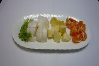 2.材料の大根、リンゴ、マンダリン.JPG